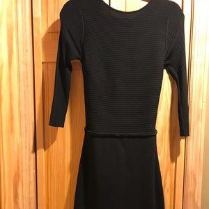 DKNY bodycon crossback sweater dress NWOT